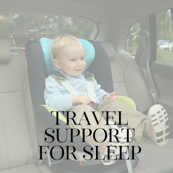little boy in car seat | child sleep package | Lisa Gargaro Sleep Co