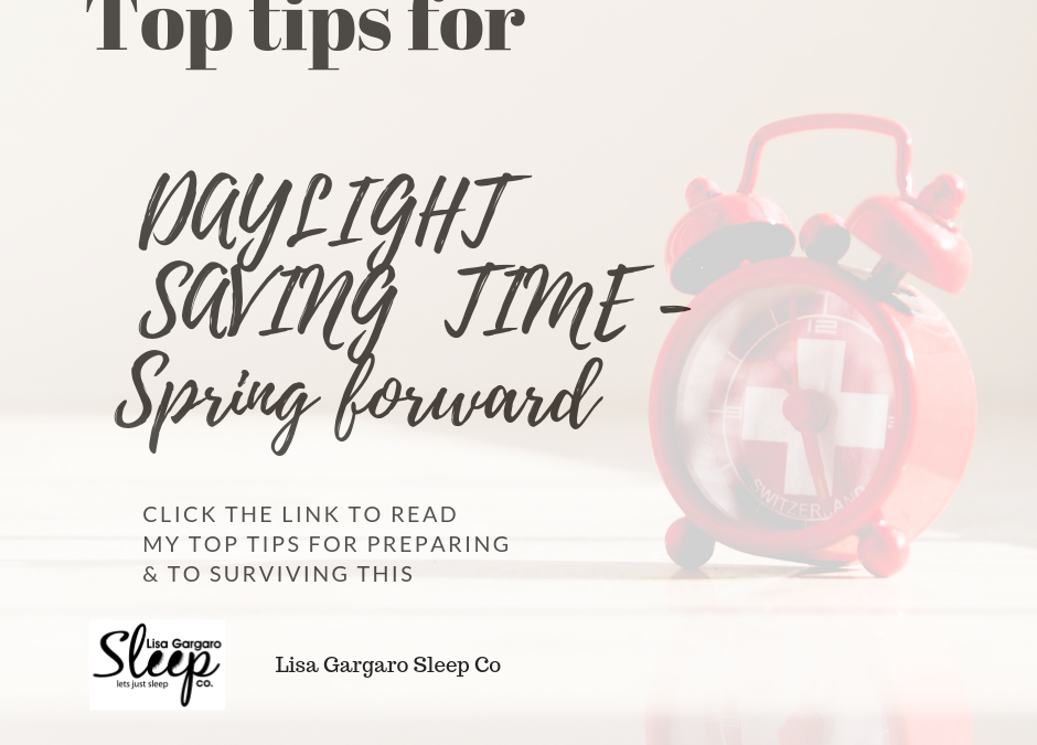 Top tips to help survive the daylight saver spring forward