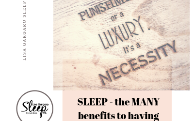 Sleep, the MANY benefits of having a good one