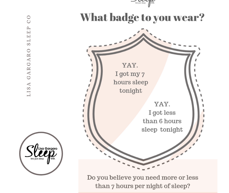 Sleep – luxury or necessity? what badge do you wear?