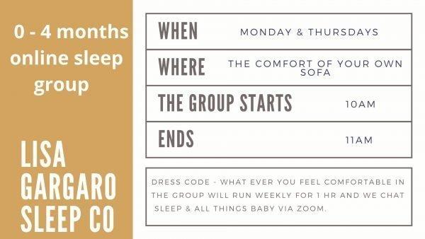 Lisa Gargaro Sleep Co scotland sleep consultant sleep zoom group support program