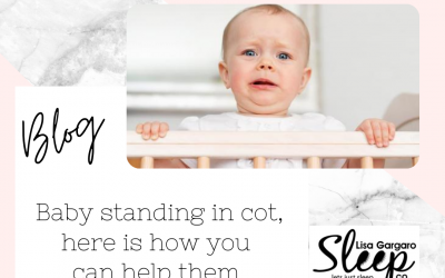 Lisa Gargaro Sleep Co – Blog – Baby standing in cot, here how you can help them sleep better